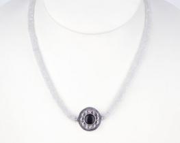 Ogrlica TEMNA LUNA - mesečev kamen
