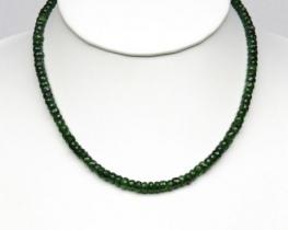 Zlata ogrlica ZELENI TURMALIN 5 mm