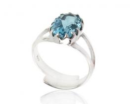 Srebrn prstan MISTIQUE BLUE s topazom
