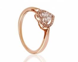 Prstan z briljanti DOLCE VITA - roza zlato