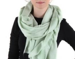 Šal Pašmina žakard - svetlo zelen