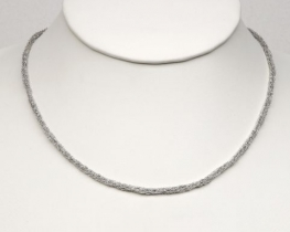 Srebra verižica drobno tkanje