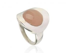 Srebrn prstan ALISA - roževec