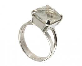 Srebrn prstan AQUARIUS 10 mm