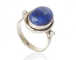 Srebrn prstan ARIES - več kamnov