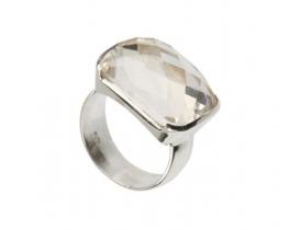 Srebrn prstan CANDY - kamena strela 15 x 20 mm