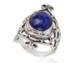 Srebrn prstan ISABELLA lapis lazuli