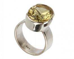 Srebrn prstan LEMON Q 12 x 15 mm