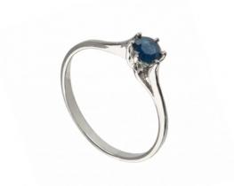 Srebrn prstan LOVE BLUE - BRILIANT