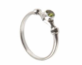 Srebrn prstan NEO -  peridot
