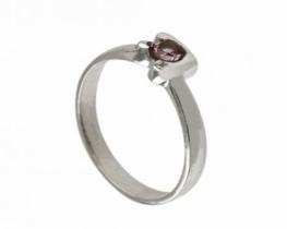 Srebrn prstan OAZA - ametist