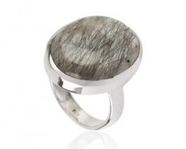 Srebrn prstan TURMALIN Q. - 15 x 20 mm