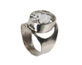 Srebrn prstan VEGA iz kamene strele