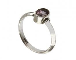 Srebrn prstan VIKA - ametist