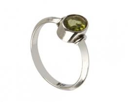 Srebrn prstan VIKA - peridot