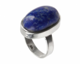 Srebrn prstan lapis lazuli 16 x 21