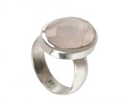 Srebrn prstan z roževcem FIONA