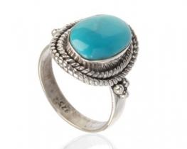 Srebrn prstan EROS - mesečev kamen, lapis, turkiz