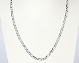 Srebrna moška verižica FIGARO 016 EF