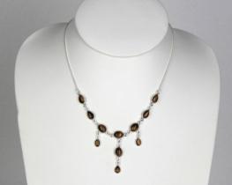 Srebrna ogrlica 1001 NOČ - tigrovo oko
