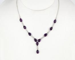 Srebrna ogrlica ALADIN - ametist