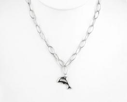 Srebrna ogrlica DELFIN