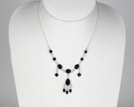 Srebrna ogrlica Šeherezada - granat