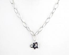 Srebrna ogrlica SLONČEK