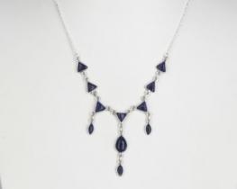 Srebrna ogrlica Trikot - lapis