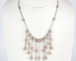 Srebrna ogrlica z biseri MARIANA