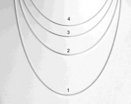 Srebrna verižica KAČICA 01 - 60 in 70 cm