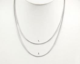 Srebrna verižica MINI KAČA 02 - 50 cm