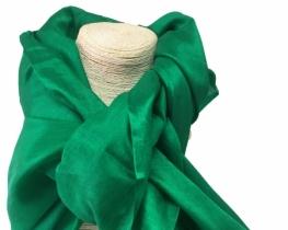 Šal COCOON - 100 % svila  - zelen