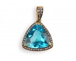 Viktorijanski obesek TRILLION z diamanti