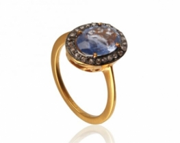 Viktorijanski prstan COLOMBO BLUE 7 x 10 mm