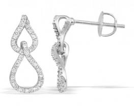 Viseči uhani z diamanti CAPPELA