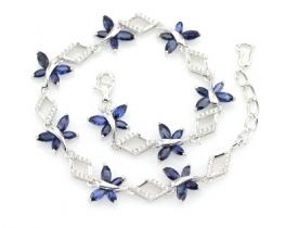 Zapestnica  LOVE SMILE Papilio z modrimi safirji