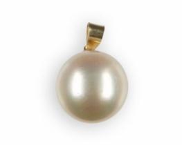 Zlat obesek NUDE s tihomorskim biserom 12, 5 mm